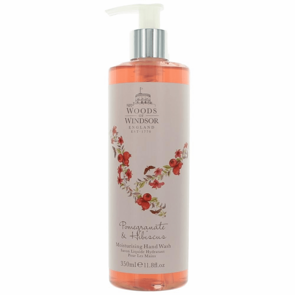Woods Of Windsor Pomegranate & Hibiscus by Woods Of Windsor, 11.8 oz Moisturising Hand Wash for Women