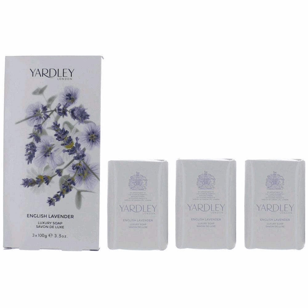 Yardley English Lavender by Yardley of London, 3 x 3.5 oz Luxury Soap for Women