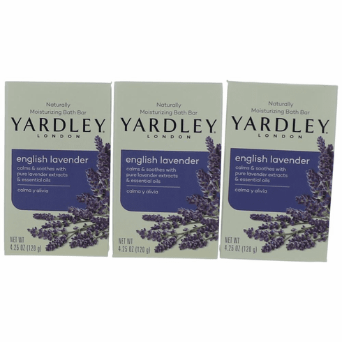 Yardley English Lavender by Yardley of London, 3 x 4.25 oz Soap for Women