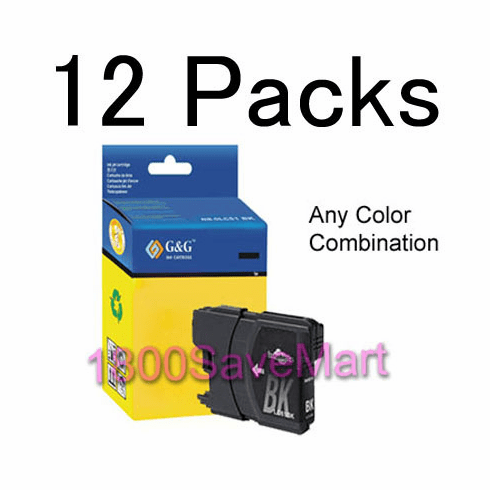 12 packs Brother LC-61 LC61 Ink Cartridges, Any color combination, 1 week special Best Value