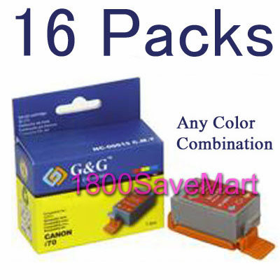 16 Packs  Ink Cartridges For Canon BCI-15BK, BCI-15C, any color selection