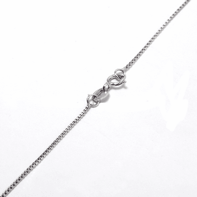 "1MM*16"" Box Chain Sterling Silver Necklace:all-NL31"