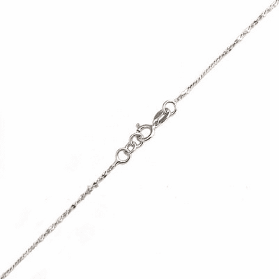 "1MM*16"" Twserp Chain Sterling Silver Necklace:all-NL30"