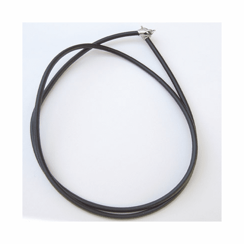 """1MM*18"""" Black  Rubber Chain with Silver Clasps  Necklace:all"""