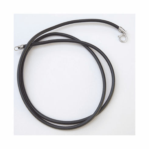 """2MM*18"""" Black  Rubber Chain with Silver Clasps  Necklace:all"""