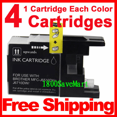 4 Packs Brother LC79BK,  LC79C,  LC79M,  LC79Y Ink Cartridges, Any color combination