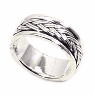 6mm Balinese/Braided Band Sterling Silver Ring