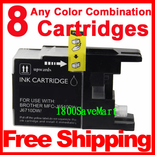 8 Packs Brother LC79BK,  LC79C,  LC79M,  LC79Y Ink Cartridges, Any color combination