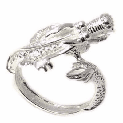 Awesome Chinese Dragon Sterling Silver Ring