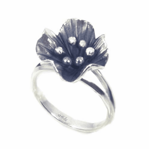 Beautiful Summer Flower Sterling Silver Ring