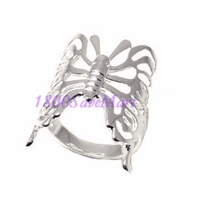 Big Butterfly Sterling Silver Ring-8 RJ251