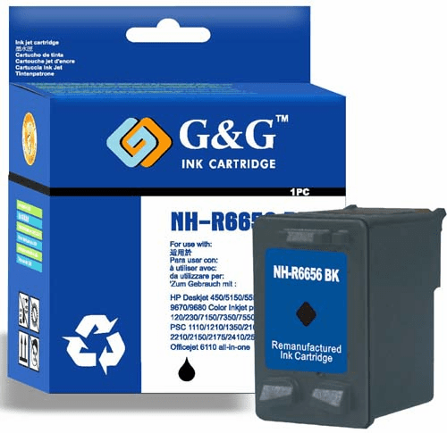 Brand New Premium Compatible Ink Cartridge HP C6656A C6656AN C6656 HP #56 HP 56 -Black
