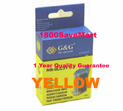 Brother LC21Y Compatible Cartridge - YELLOW