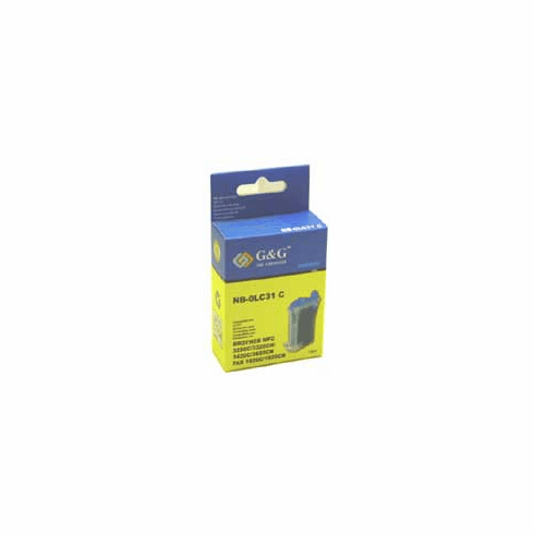 Brother LC31C Compatible Cartridge - CYAN