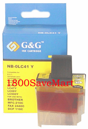 Brother LC41Y Compatible Cartridge - YELLOW