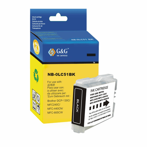 Brother LC51BK LC-51BK Compatible Cartridge - BLACK