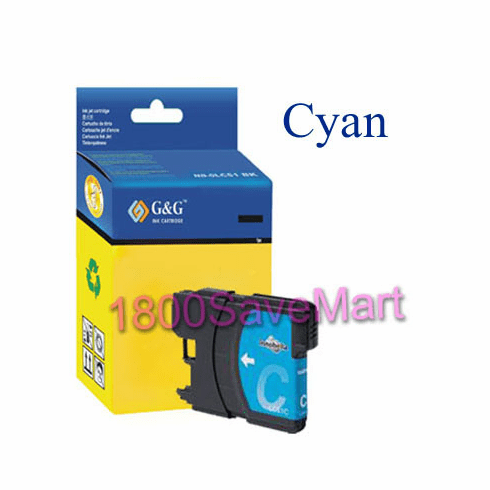 Brother LC61C LC-61C Compatible Cartridge - CYAN