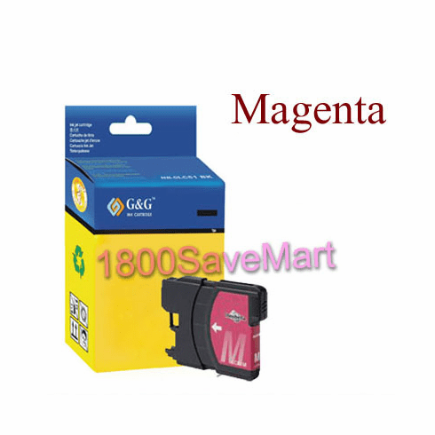 Brother LC61M LC-61M Compatible Cartridge - MAGENTA