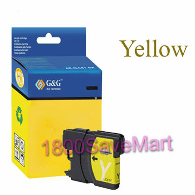 Brother LC61Y LC-61Y Compatible Cartridge - YELLOW