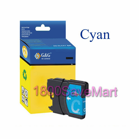 Brother LC65C LC-65C LC65HYC Compatible Cartridge - CYAN