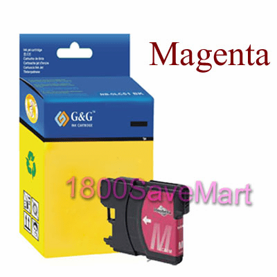 Brother LC65M LC-65M LC65HYM Compatible Cartridge - MAGENTA