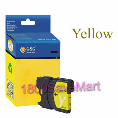 Brother LC65Y LC-65Y LC65HYY Compatible Cartridge - YELLOW