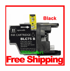Brother LC75BK, LC-75 Compatible Cartridge - Black