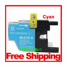 Brother LC75C, LC-75 Compatible Cartridge - Cyan