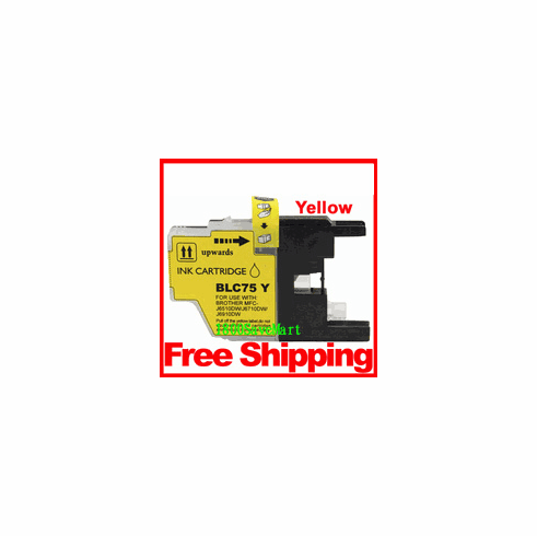 Brother LC75Y, LC-75 Compatible Cartridge - Yellow