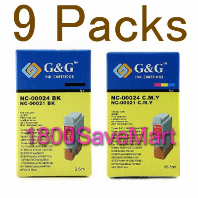 Canon BCI-24 Value Pack - 9 Cartridges, Buy 3 Get 1 Free