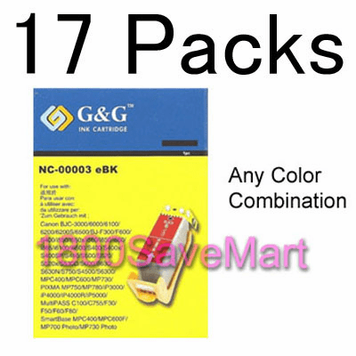 Canon BCI-3 BCI-3e Value Pack  - Up to 17 Cartridges, Buy 3 Get 1 Free