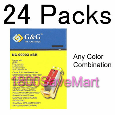 Canon BCI-3 BCI-3e Value Pack - Up to 24 Cartridges, Buy 3 Get 1 Free