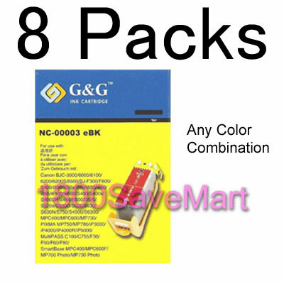 CANON BCI-3 BCI-3e Value Pack - Up to 8 Cartridges, Buy 3 Get 1 Free