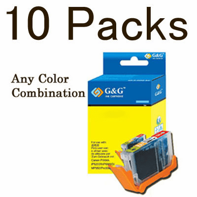 Canon CLI-8, PGI-5BK Value Pack - 10 Cartridges, No Chip, any color selection