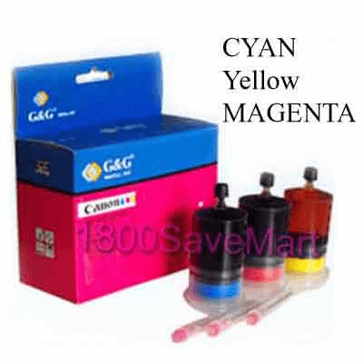 Canon InkJet Refill Kit for Canon BC-05 Color InkJet Cartridges --- Photo CMY, Buy 3 Get 1 Free, Buy 5 Get 2 Free