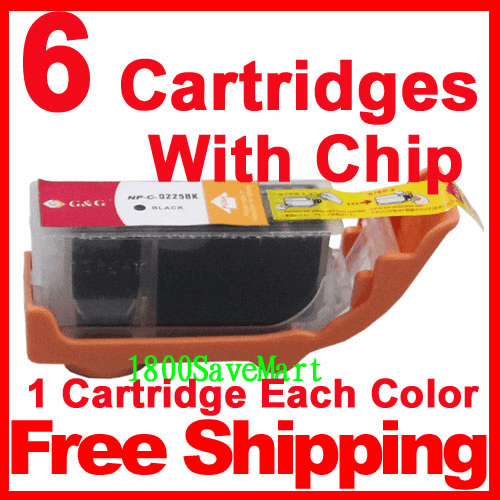 Canon PGI-225, CLI-226, PGI-225BK, CLI-226BK, CLI-226C, CLI-226M, CLI-226Y, CLI-226GY Grey Value Pack -6 Cartridges, any color selection