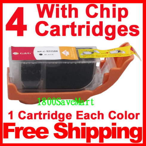 Canon PGI-225, CLI-226, PGI-225BK, CLI-226C, CLI-226M, CLI-226Y Value Pack -4 Cartridges, any color selection