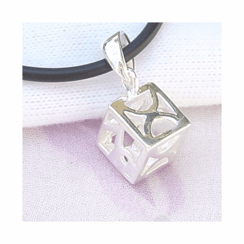 Cross Prayer Box Locket Sterling Silver Pendant