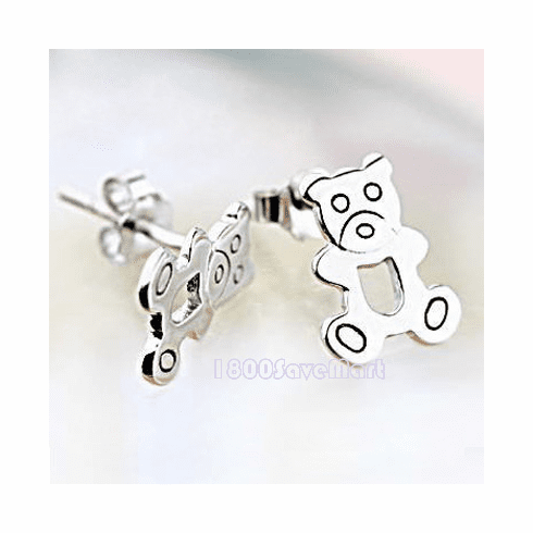 Cute Bear Sterling Silver Earrings EYAA