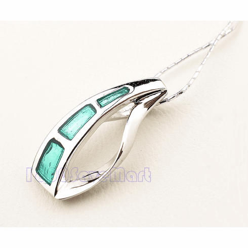 Cute Moon WithWhite CZ Sterlng Silver Pendant