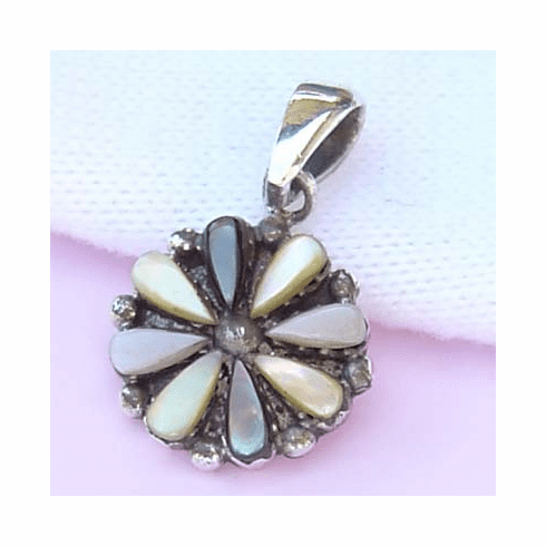 Cute Summer Multi Flower Sterling Silver Pendant