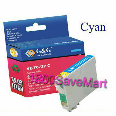Epson T073220 Compatible Cartridge - Cyan, Buy 3 Get 1 Free, Buy 5 Get 2 Free