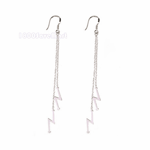 Flash Bar Sterling Silver chain Earring EJAX