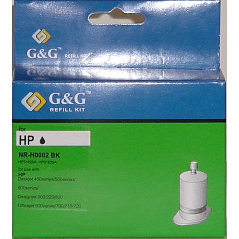 HP InkJet Refill Kit for HP 51626A, 51629A, C6614A --- Black, Buy 3 Get 1 Free, Buy 5 Get 2 Free