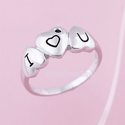 I Love You Heart Sterling Silver Ring RYAI