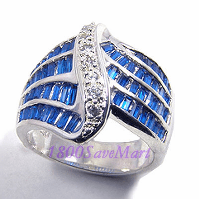 Marquise Cubic Zirconia Sterling Silver Ring-8 RJ240 White Blue Pink