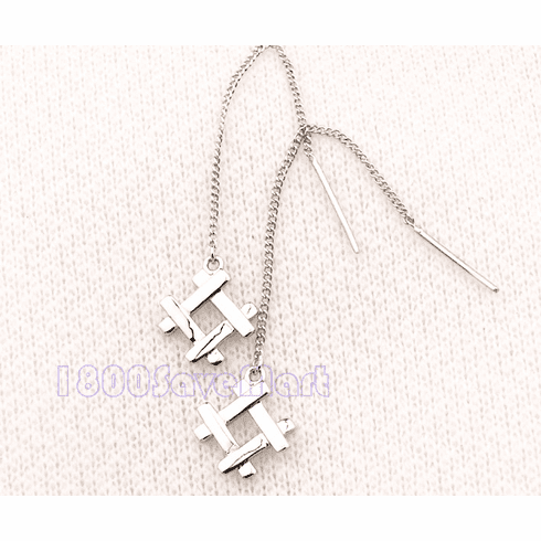 """#"" MOP Sterling Silver Threader Earrings"