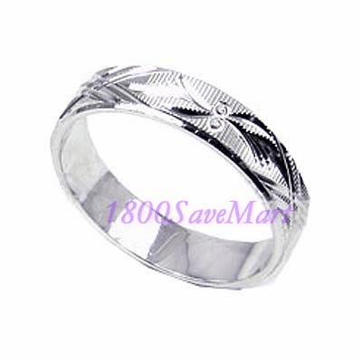 Nice 5mm Sterling Silver Band Ring-8