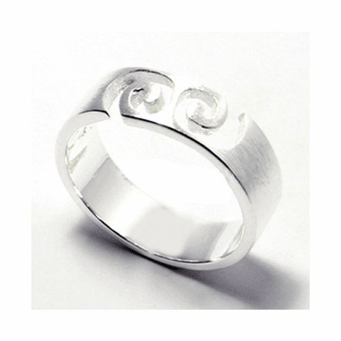 Nice Spin 5mm Sterling Silver Ring