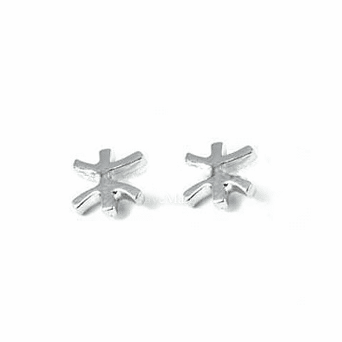 Pisces Zodiac Sign Sterling Silver Earring EJAH